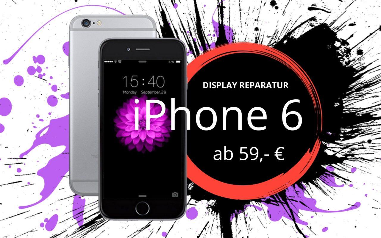 Apple iPhone 6 Display Touchscreen Reparatur Austausch Panzerglas Düsseldorf