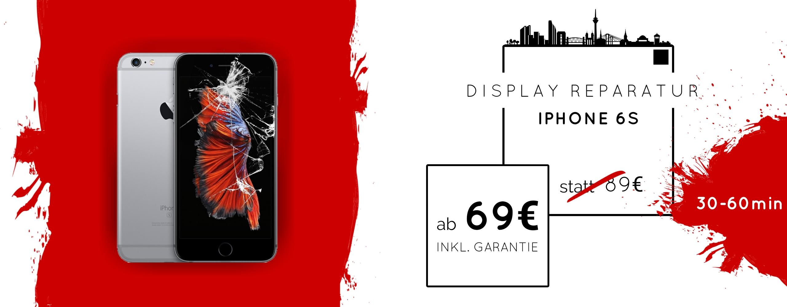 Smartphone Apple iPhone 6s Display Gals Reparatur Austausch