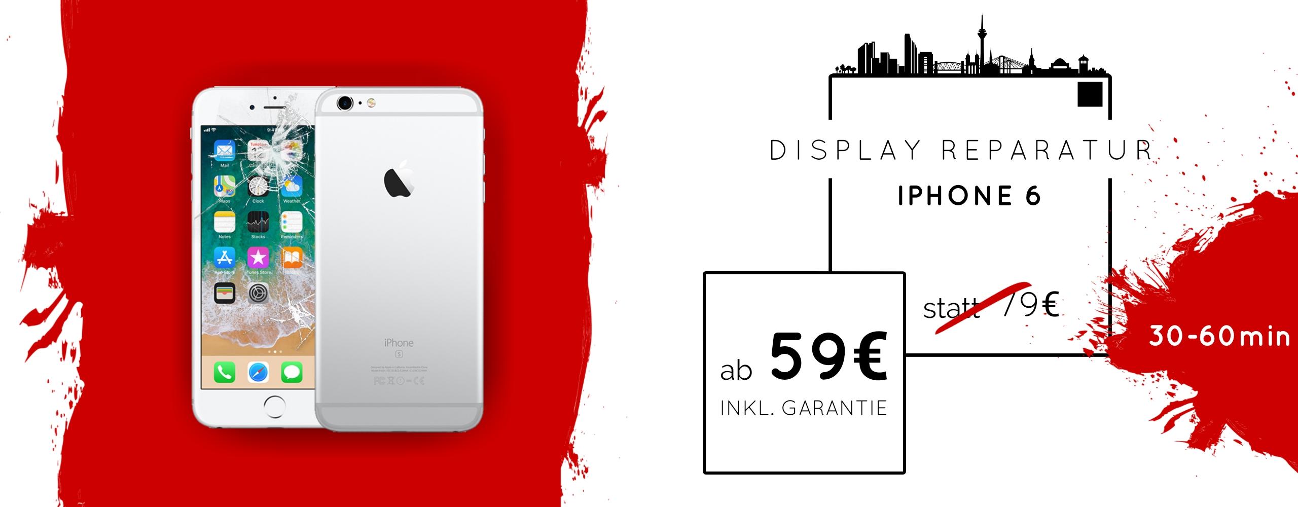 Smartphone Apple iPhone 6 Display Gals Reparatur Austausch