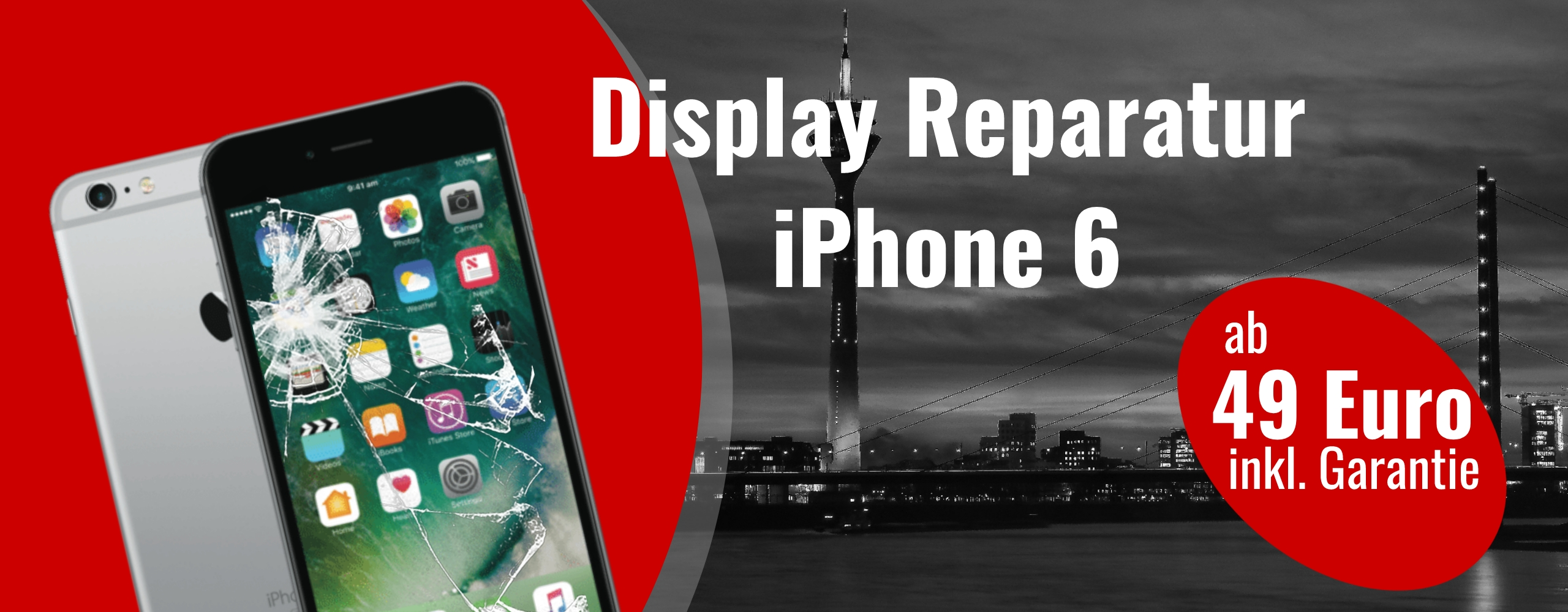 Smartphone Apple iPhone 6 Display Glas Reparatur