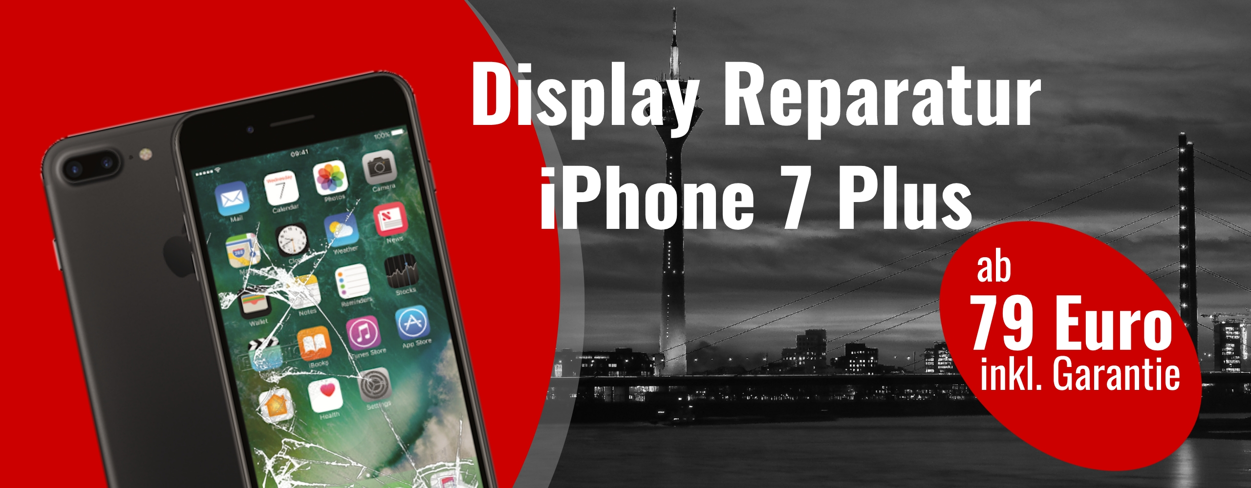 Smartphone Apple iPhone 7 Plus Display Austausch Gals Reparatur