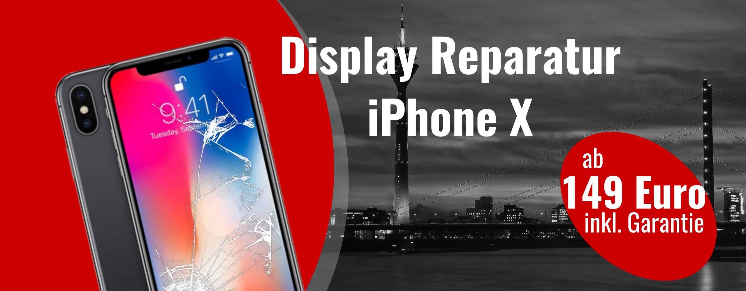 Apple iPhone X 10 smartphone Display Austausch Gals Reparatur