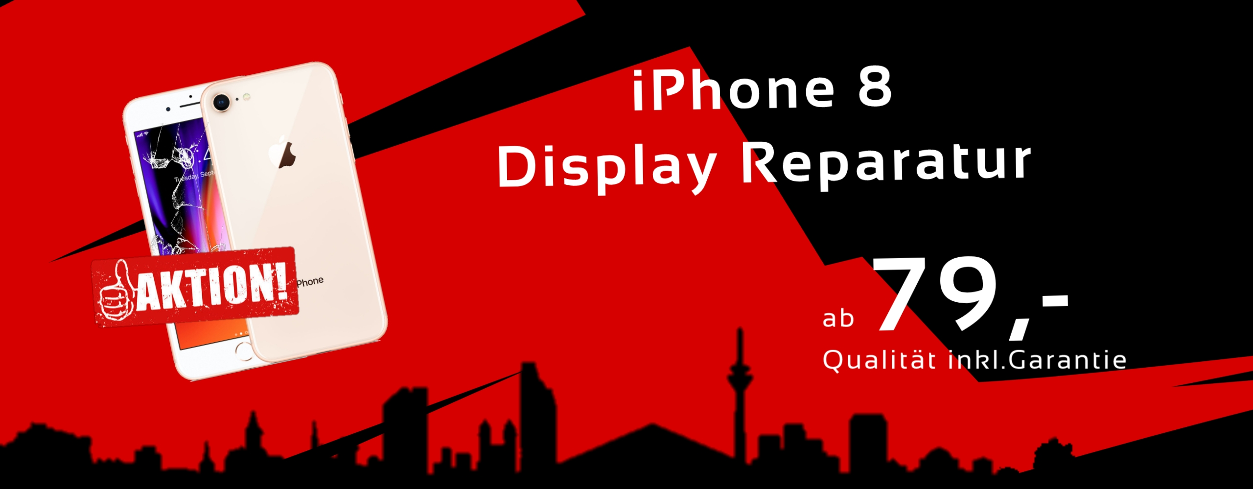Smartphone Apple iPhone 8 Display Glas Reparatur Preis