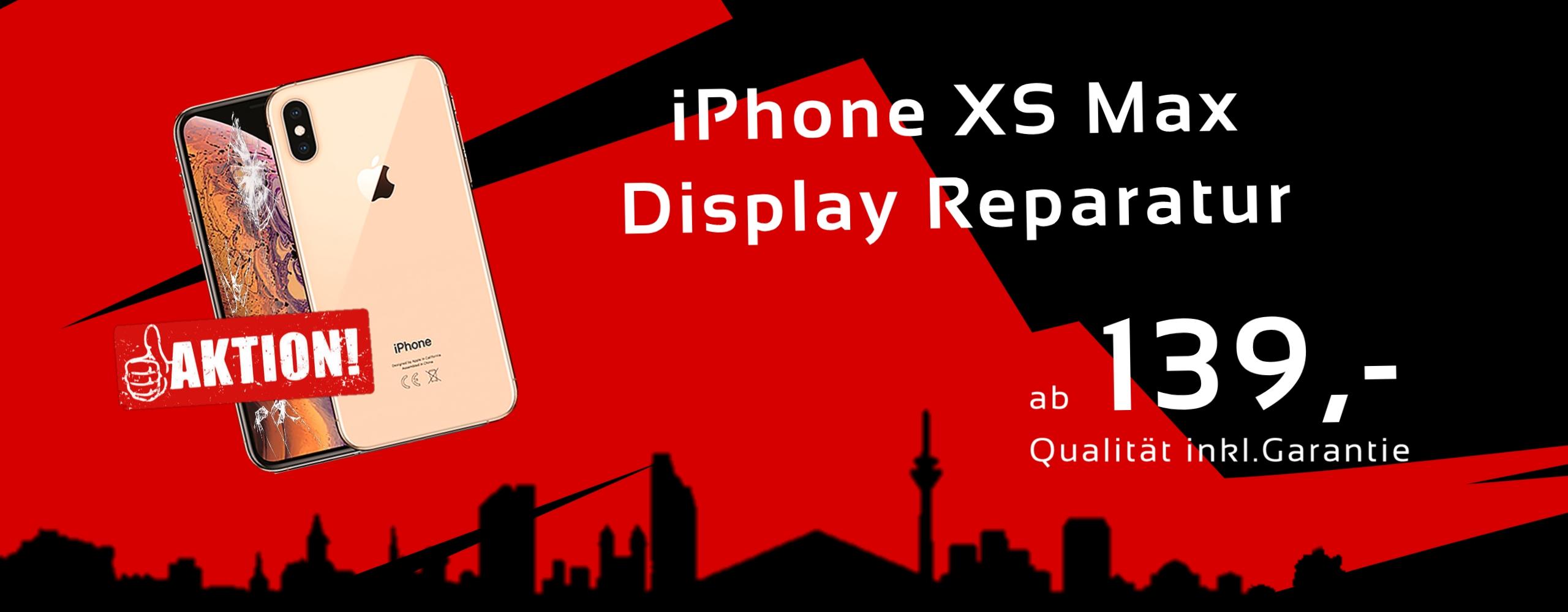 Smartphone Apple iPhone XS Max Display Glas Reparatur Preis